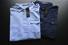 RALPH LAUREN POLO LOT OF 2 LS 100% COTTON CLASSIC FIT SHIRTS SIZE: XL *NWT*