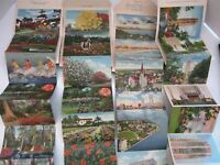 4 FLORIDA 1940's 18 VIEW SOUVENIR FOLDER Postcards linen JACKSONVILLE, SINGING T