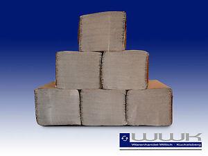 5000 Blatt Handtuchpapier, Papierhandtücher Falthandtuch, Einmalhandtücher natur