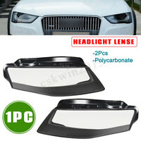 1PC Car Headlight Headlamp Cover Lense Left & Right Front For Audi A4 09-12 B8