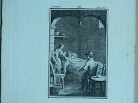 XIX Oder Vorn Antik Gravur Anonym Ätzradierung Forte mit dem Titel Lectures XII