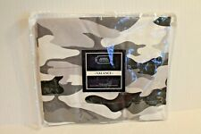 "Cadet Gray & Black Camo Camouflage 84"" Valance Window Curtain NEW"
