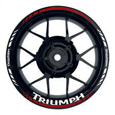 Triumph Standard rot Felgenaufkleber Motorrad Felgenrandaufkleber Wheelsticker