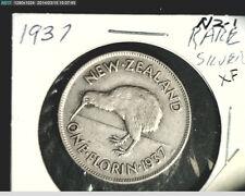 1937 New Zealand, Florin,  High Grade Silver, .1818 oz Slv  (NZ-1)