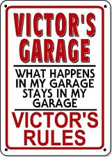 VICTOR'S GARAGE SIGN - NOVELTY Polystyrene SIGN GARAGE Man cave