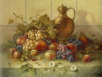 24 x 18 Art Corrado Pila Mural Ceramic Grape Backsplash Tile #337
