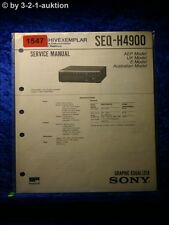 Sony Service Manual SEQ H4900 Graphic Equalizer  (#1547)