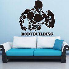 Bodybuilding Fitness Muscle Wandtattoo Wallpaper Wand Schmuck 55 x 55 cm