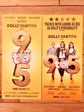 9 TO 5 WEST END MUSICAL THEATRE HANDBILL/FLYERS X 2 -LOUISE-DOLLY PARTON