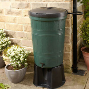 200L Garden Lake Water Butt with Stand & Diverter - Easily Recycle Rainwater