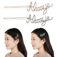 Diamond Pearl Hairgrip Hair Accessories Letters Hair Pin Crystal Barrettes