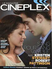 TWILIGHT Cineplex FRENCH magazine Kristen Stewart Robert Pattinson Breaking Dawn