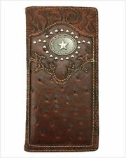Lone Star Mens Wallet Western Bifold Check Book Style W069-13 Brown