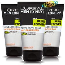 3x Loreal Men Expert Pure Power Scrub x2000 Beads 150ml