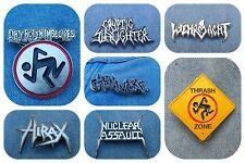 Nuclear Assault Hirax Carnivore D.R.I. DRI pin badge thrash metal metallica