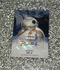 Brian Herring Autograph BB8 Topps Star Wars The Force Awakens Series 2 RARE SP!