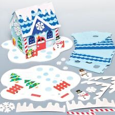 3D Snowman House Foam Kit - Christmas Eve Box - Xmas Craft Create Display