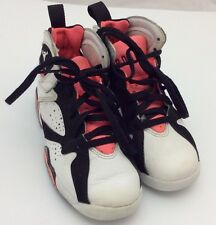 Nike Air Jordan 7 Retro GP White/Black Hot Pink 442961-106 Girls Preschool 11C