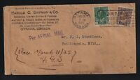 Canada 1922 PER AERIAL MAIL Flight Cover OTTAWA to TWILLINGATE NEWFOUNDLAND