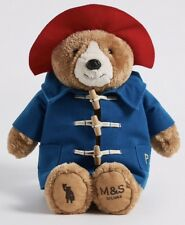 MARKS AND SPENCER PADDINGTON BEAR  (33CM) SOFT PLUSH TOY NEW