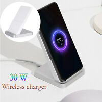 30W Wireless Charger Holder Stand Charging Dock for Xiaomi Mi 9Pro iPhone 11 Max