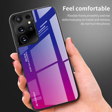 Gradient Tempered Glass Case For Samsung Galaxy S21+/S21 Ultra S20 FE 5G Note 20