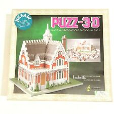 Vintage 90s Puzz-3D Victorian Home Isabella WREBBIT 233 Piece Jigsaw Puzzle 3D