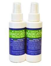 Travel Size Safe Bed Bug ERADICATOR Spray 2-Pack Non-Toxic Ready to Use 3oz Each