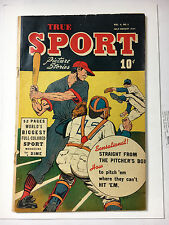 True Sport Picture Stories V4#2 G 1947 Street and Smith Powell