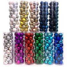 "Allgala Christmas Tree Ornament Balls, 36 PK 4 Style 2"" Gold Xmas Balls"