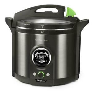 NEW IN BOX Presto Precise 02144 12Qt Digital Pressure Canner - Black