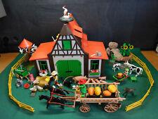 Playmobil Bauernhof 3716-A/1992 + Extras (Leiterwagen, Zaun, Kinder), ohne OVP!