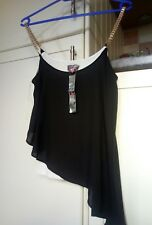 BNWT Lipsy ladies UK 8 chain straps 2 in 1 floaty top
