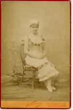 Nadar, Paris, Actrice Marguerite  Vintage albumen print. Carte Cabinet Tirage