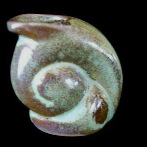 Vintage Frankoma Art Pottery  Miniature Snail Pitcher  number 558 Spiral