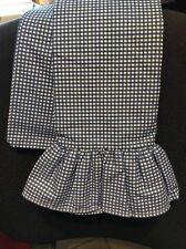 Ralph Lauren Blue White Gingham Ruffled Pillow Case STANDARD size, 200 TC, USA