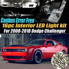 16Pc CANbus Error Free Interior LED White Light Kit for 2008-18 Dodge Challenger