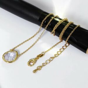 Pear shape Pendant Necklace 18k Gold Plated Chain Austria Crystal Necklace