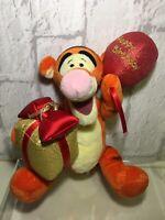"""8"""" Happy Birthday Disney Tigger Soft Beanie Plush Toy - 80th Birthday / Gift"""