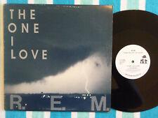 "R.E.M. The One I Love 12"" Single WHITE LABEL PROMO I.R.S. 1987 Jangle Pop"