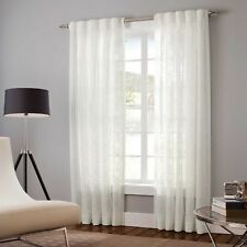 Designers Select 30 x 95 Claudia Sheer Curtain Panel in White
