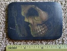 Skull grim Reaper Biker 100% all leather sew on jacket PATCH
