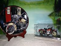 Harley Davidson Collectibles A Franklin Mint Plate & Die Cast Model.