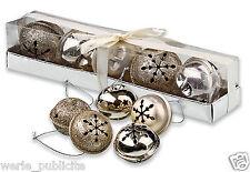 Lot de 5 GRELOTS en métal décoration sapin de Noël