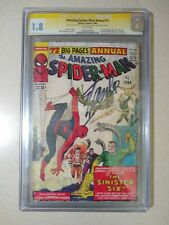 AMAZING SPIDER-MAN ANNUAL #1 CGC 1.8 SS Signed STAN LEE 1st Sinister Six 1964