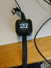 Fitbit Versa Activity Tracker Smartwatch - Black Band - Used - Works