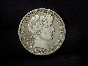 1899-O Barber Half Dollar FINE BOLD FULL LIBERTY