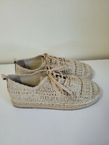 Human size 41 Espadrilles Shoes lace up new unworn