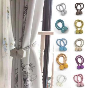 1/2pcs Tieback Curtain Magnetic Ball Curtains Buckle Tie Backs Curtain Holder