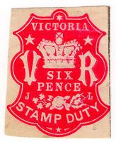 (I.B) Australia - Victoria Revenue : Impressed Stamp Duty 6d